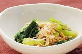 ほろ苦さがクセになる小松菜と歯ごたえの良いえのきの健康レシピ!のサムネイル画像