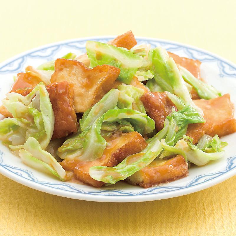 栄養があって美味しい!厚揚げとキャベツのレシピバリエをご紹介のサムネイル画像