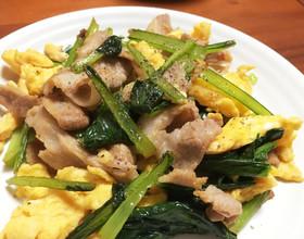 小松菜と豚バラで絶品レシピ!今日のおかずはこれで決まり!のサムネイル画像