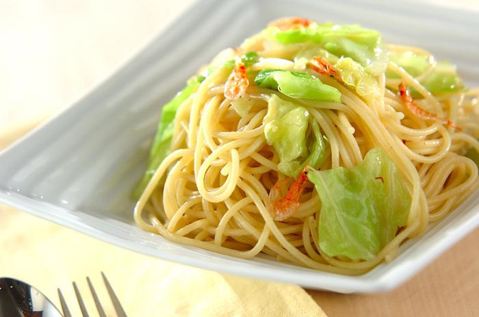 キャベツを美味しく食べよう♪キャベツのパスタのレシピと作り方♪のサムネイル画像