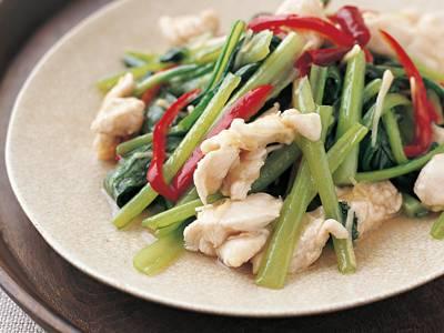 小松菜と鶏肉で何作ろう?こんなレシピはいかがでしょうか。のサムネイル画像