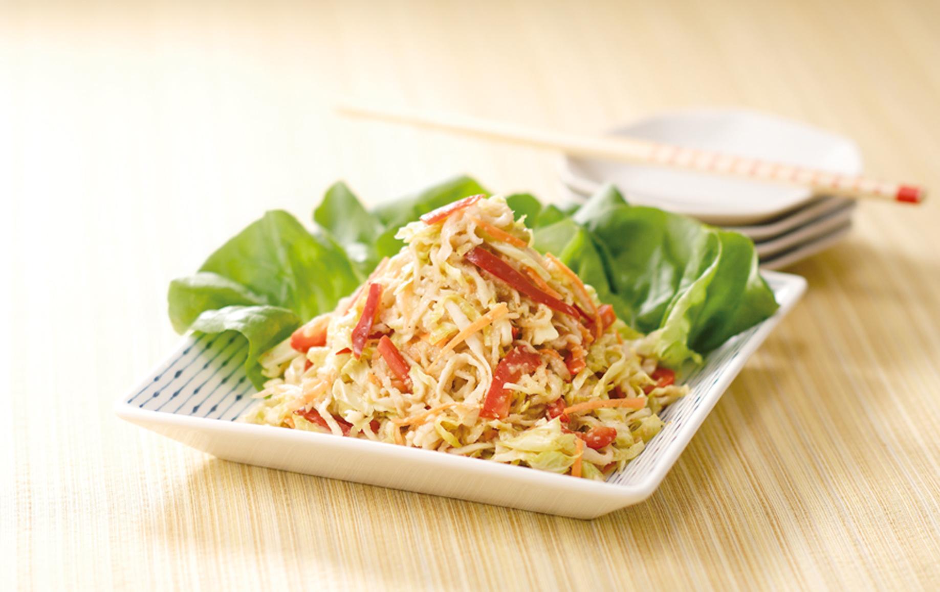 ちょっぴり意外だけど美味しくて人気!切り干し大根サラダのレシピのサムネイル画像