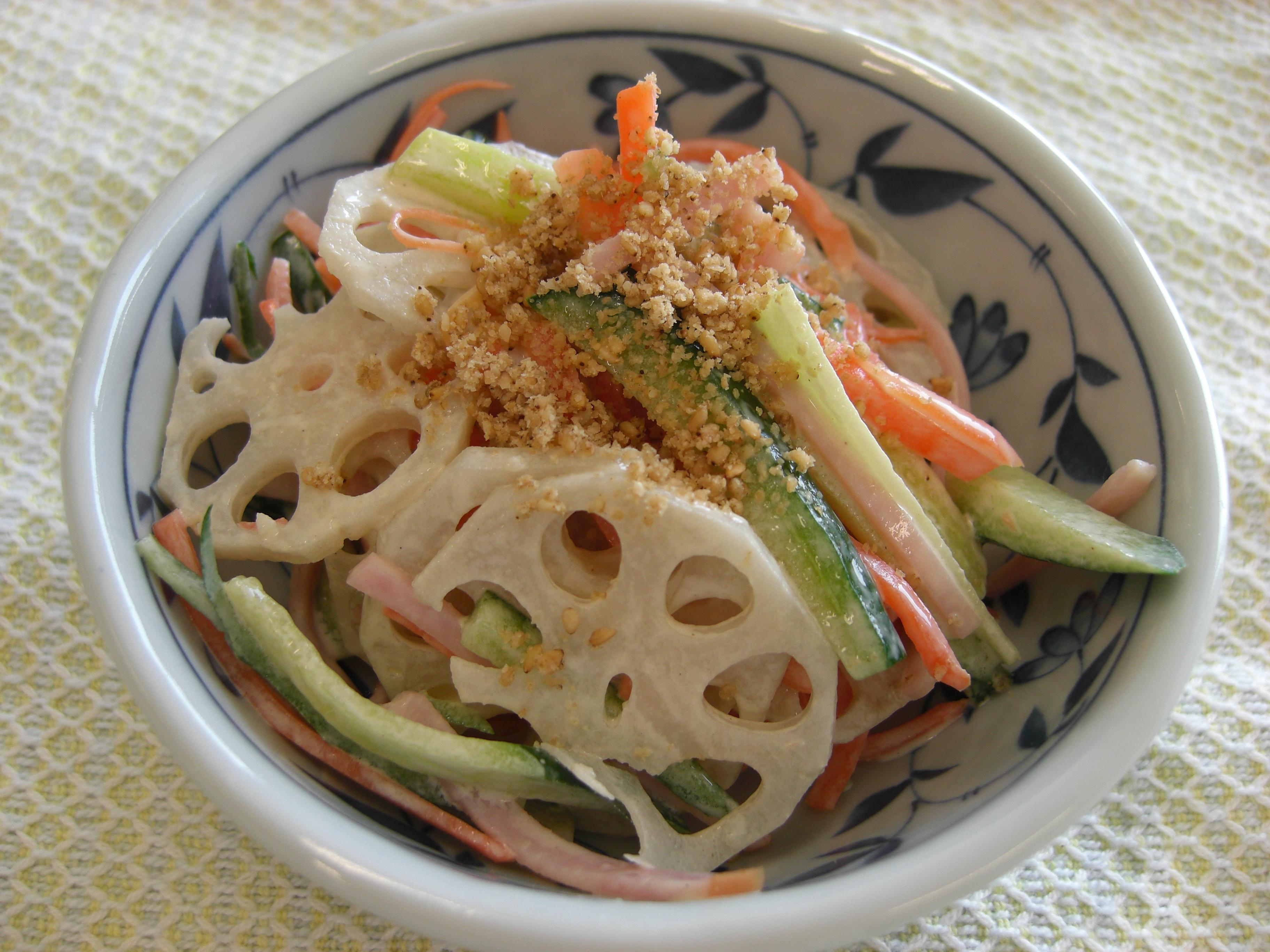 シャキシャキ美味しい☆簡単レンコンサラダ厳選6レシピ!大特集♪のサムネイル画像