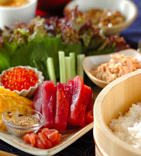 出会いの春!!お洒落なネタで手巻き寿司パーティーを開こう!!のサムネイル画像