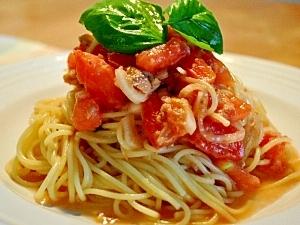みんな大好きトマトパスタの、プラス○○○アレンジレシピ5選のサムネイル画像