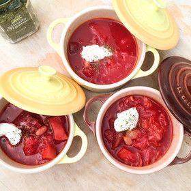 お酒のお共にも…♡♡♡ロシアの伝統料理!ボルシチの作り方!のサムネイル画像