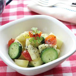 サラダの名脇役!きゅうりを使ったおいしいサラダのレシピ5選のサムネイル画像