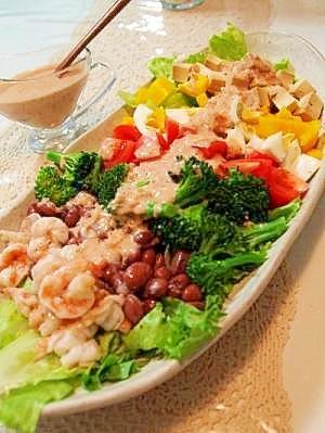 ドレッシングも手作り♪カラフル野菜のコブサラダレシピ集☆のサムネイル画像