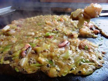 あっつあつとろとろ~。お家でめちゃうまもんじゃ焼きのレシピのサムネイル画像