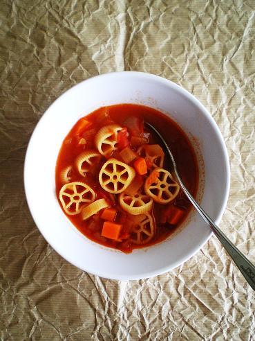 野菜のうまみたっぷりのミネストローネ☆リメイクパスタレシピのサムネイル画像