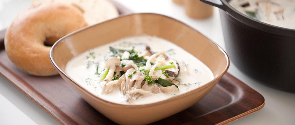 きのこたっぷりが嬉しい♥クリーミーな人気のスープレシピで大満足!のサムネイル画像