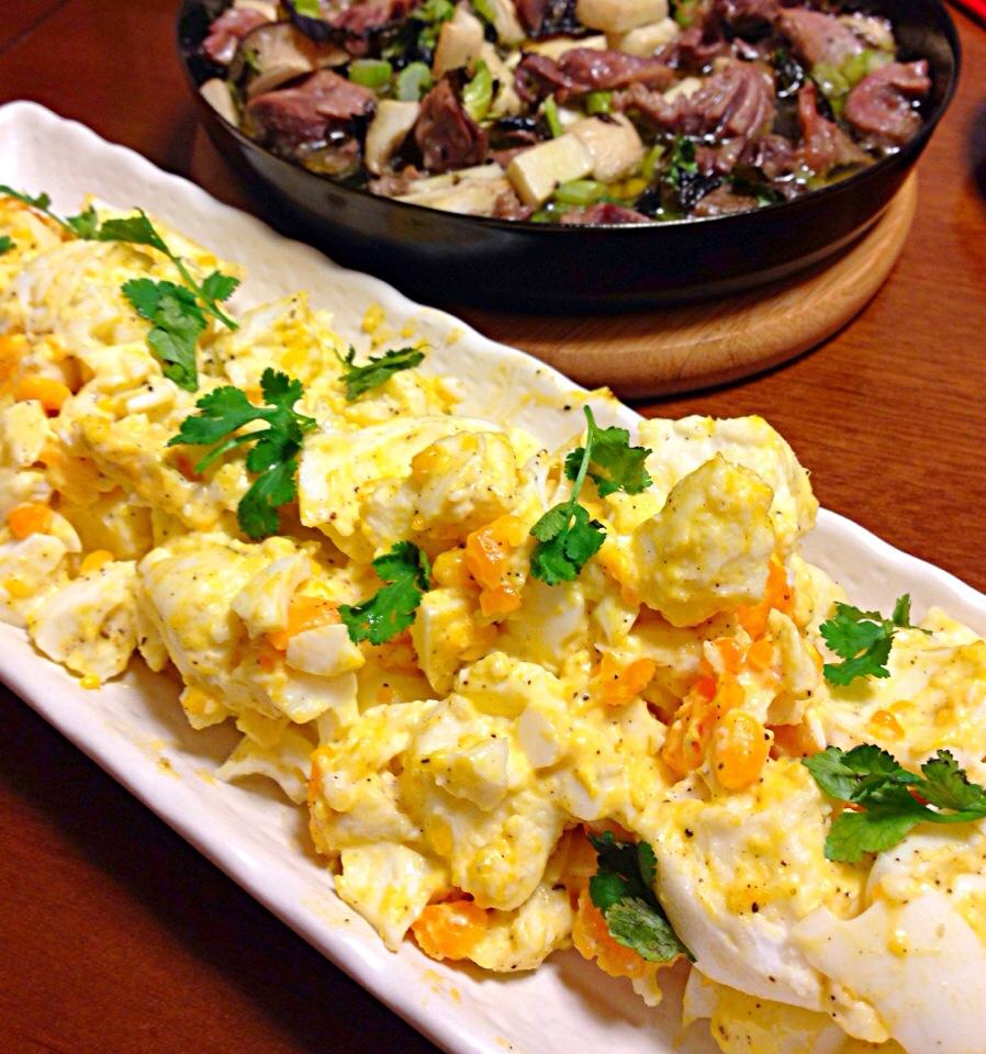 夏こそ食べたい栄養たっぷり卵サラダ!ごちそう卵サラダのレシピのサムネイル画像